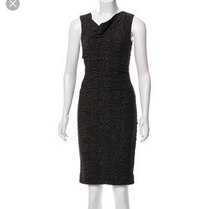 Nicole Miller Black Sleeveless Sheath Dress Size 4